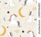 childish seamless pattern with...   Shutterstock .eps vector #1980946685