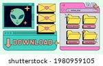 retro user interface of...