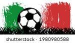 flat vector black grunge soccer ... | Shutterstock .eps vector #1980980588