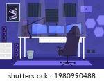 gamer room  modern technology. ...   Shutterstock .eps vector #1980990488