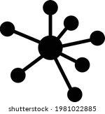 business network vector icon.... | Shutterstock .eps vector #1981022885