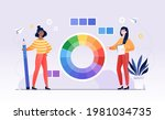 two female characters are... | Shutterstock .eps vector #1981034735