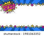 graduate pop art bright comic... | Shutterstock .eps vector #1981063352