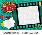 graduation photo frame in pop... | Shutterstock .eps vector #1981063355