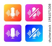 turn off the microphone icon.... | Shutterstock .eps vector #1981071308