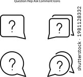 question mark icons isolated on ...