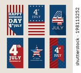 poster or card for 4th of july... | Shutterstock .eps vector #198113252