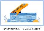 vector illustration of purchase ... | Shutterstock .eps vector #1981162895