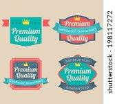 set of vintage retro badge | Shutterstock .eps vector #198117272