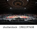 Small photo of Rio, Brazil - may 27, 2021: Arena view of Flamengo battles with xxxxx of Sao Paulo during the mens New Brazilian Basketball (NBB) game between Flamengo and Sao Paulo at Maracazinho Stadium