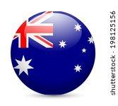 flag of australia as round...   Shutterstock .eps vector #198125156