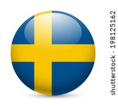 Flag Of Sweden As Round Glossy...
