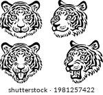 illustration of various tiger... | Shutterstock .eps vector #1981257422