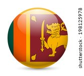 flag of sri lanka as round... | Shutterstock .eps vector #198125978