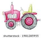 Tractor  Watercolor...