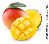 mango isolated | Shutterstock . vector #198129782