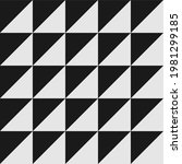 black and white triangle... | Shutterstock .eps vector #1981299185