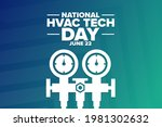 national hvac tech day. june 22....   Shutterstock .eps vector #1981302632