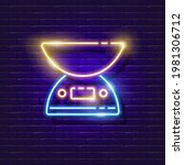 kitchen scales neon sign....   Shutterstock .eps vector #1981306712
