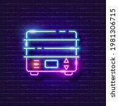 double boiler neon sign. vector ...   Shutterstock .eps vector #1981306715