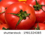 Close Up Of Ripe Red Tomato ...