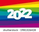creative text 2022 on rainbow... | Shutterstock .eps vector #1981326428