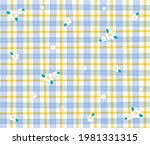 Blue Gingham Patterns With...