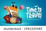 travel time vector banner...   Shutterstock .eps vector #1981335485
