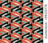 isometric retro seamless pattern   Shutterstock .eps vector #198133778