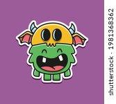 cute monster cartoon doodle... | Shutterstock .eps vector #1981368362
