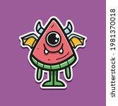 cute monster cartoon doodle... | Shutterstock .eps vector #1981370018