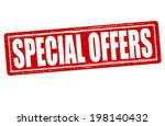 stamp with text special offers... | Shutterstock .eps vector #198140432