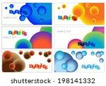 set of color vector bubbles... | Shutterstock .eps vector #198141332