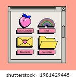 user interface with window box... | Shutterstock .eps vector #1981429445