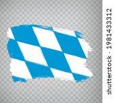 flag of bavaria brush strokes....