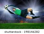 football goalkeeper in action... | Shutterstock . vector #198146282