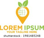 fresh fruit location  pin logo   Shutterstock .eps vector #1981485248