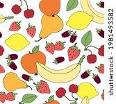 decorative fruit for design.... | Shutterstock . vector #1981493582