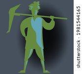 illustration of india farmer ... | Shutterstock .eps vector #1981544165