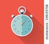 illustration of flat stopwatch...   Shutterstock .eps vector #198155708