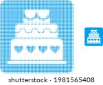marriage cake halftone dot icon ...   Shutterstock .eps vector #1981565408