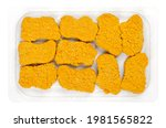 vegan nuggets  ready to fry in...   Shutterstock . vector #1981565822