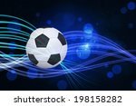 football against curved laser... | Shutterstock . vector #198158282