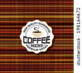 menu for restaurant  cafe  bar  ... | Shutterstock .eps vector #198164672