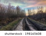 old country road at the autumn... | Shutterstock . vector #198165608