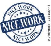 nice work blue round grungy...   Shutterstock . vector #198166445