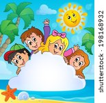 summer holidays theme image 1   ... | Shutterstock .eps vector #198168932