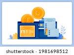 vector illustration of wallet... | Shutterstock .eps vector #1981698512