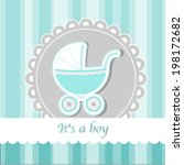 baby carriage   wish card to... | Shutterstock .eps vector #198172682
