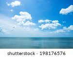 Beautiful Sky And Sea With...